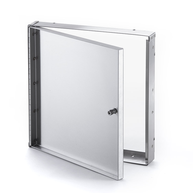 Recessed Stainless Steel Access Door without Flange, allen hex head operated cam latch, piano hinge