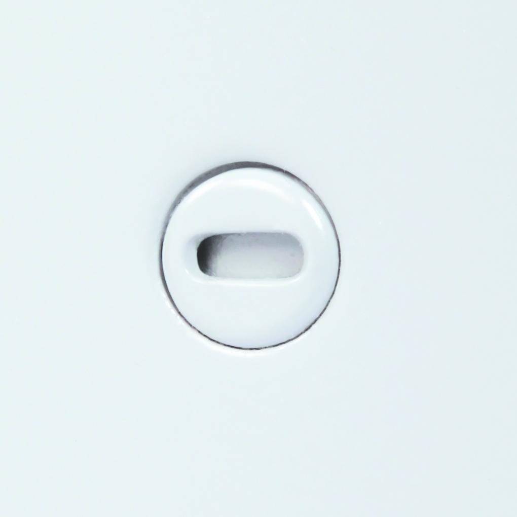 Panneau d'accès à usage universel avec cadre apparent, loquet à tournevis, penture de type goupille