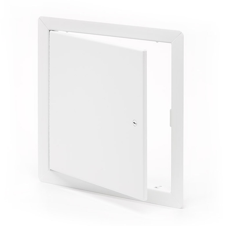 Flush Universal Access Door with Exposed Flange, screwdriver operated cam latch, piano hinge