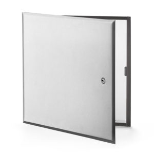 Flush Universal Stainless Steel Access Door with Hidden Flange, screwdriver operated cam latch, pantographe hinge, gasket