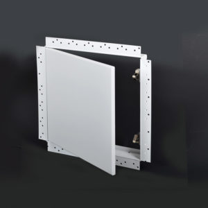 Flush Removable Access Door with Drywall Bead Flange, concealed push latch, spring hinge