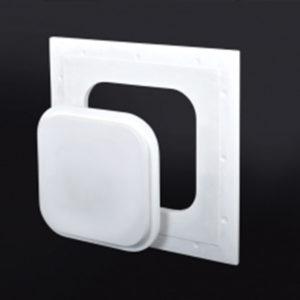Glass Fiber Reinforced Gypsum Access Door, gravity based closure, removable door, rounded corners