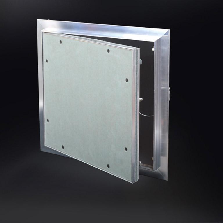 "ALUMI - Recessed ½"" Aluminum Access Door with Hidden Flange, push latch, free pivot hinge"