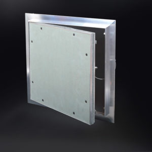 "ALUMI - Recessed 5/8"" Aluminum Access Door with Hidden Flange, push latch, free pivot hinge"
