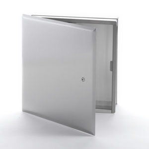 Cabinet multifonctionnel en acier inoxydable avec cadre dissimulé, loquet à tournevis, charnière de type pantographe