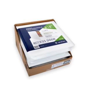 Panneau d'accès à usage universel avec cadre dissimulé, loquet à tournevis, charnière de type pantographe, emballage multiple