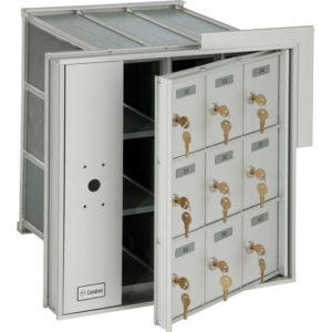 Boîte aux lettres horizontales à accès par l'arrière, rencontre ou dépasse les normes de Poste Canada, à installer à l'intérieur d'un l'immeuble