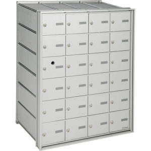 Front-loading horizontal mailboxes, for internal mail, interior use only